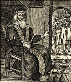 Excerpt from Josiah King's The Examination and Trial of Father Christmas (1686), published shortly after Christmas was reinstated as a holy day in England.