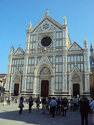 English: Westside of the church Santa Croce, F...