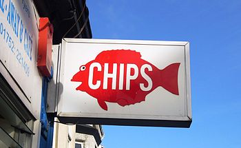 English: Fish and Chip shop in Plymouth