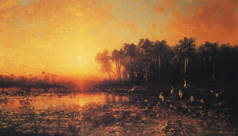 Nuclear fusion of hydrogen brings comfort and artistic inspiration. (George Herbert McCord: 'Florida Sunrise' 1880)