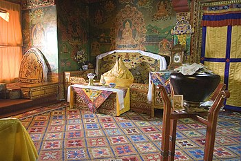 English: Inside Potala Palace, Dalai Lama form...