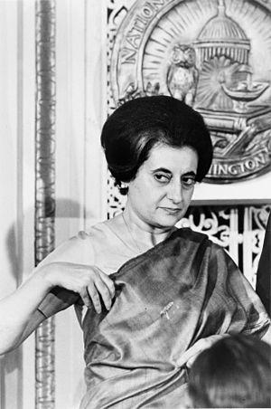 Indian Prime Minister Indira Gandhi (1917-1984...