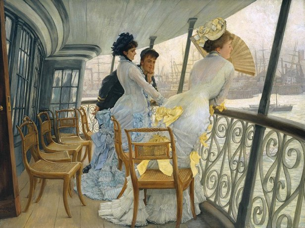 """""""The Gallery of HMS Calcutta"""" by James Tissot"""