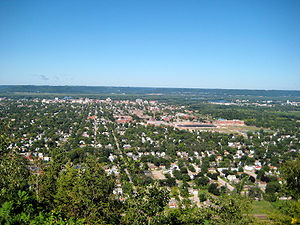Overlooking La Crosse, Wisconsin from Grandad ...