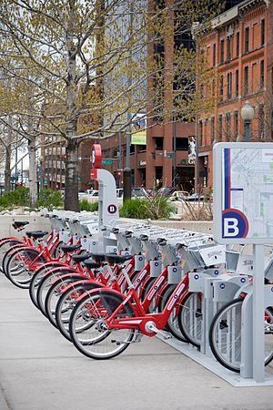 English: Denver B-cycle Station, Denver, Colorado