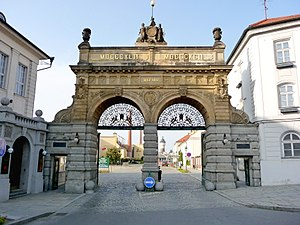 Česky: Pivovar Plzeňský Prazdroj - Hlavní brán...