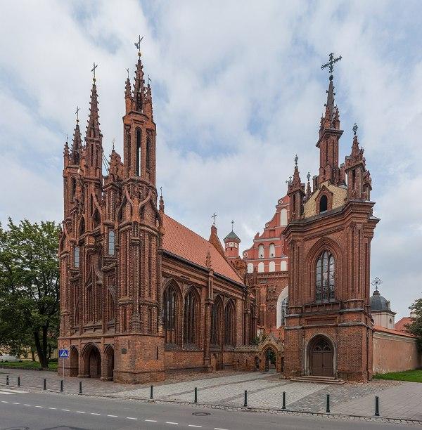 Файл:St. Anne's Church Exterior 1, Vilnius, Lithuania ...