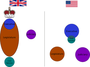 English: brief diagram comparing the role of c...