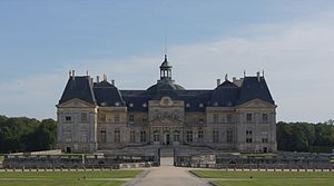 Château de Vaux le Vicomte, France. Main entrance