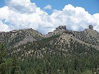 Vista di Chimney Rock Colorado.JPG
