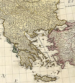 English: (Composite of) A map of the Mediterra...