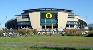 English: Exterior of Autzen Stadium, home of t...