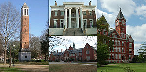 English: Collage of universities and colleges ...