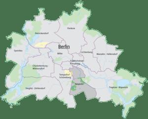 The location of Neukölln in Berlin.