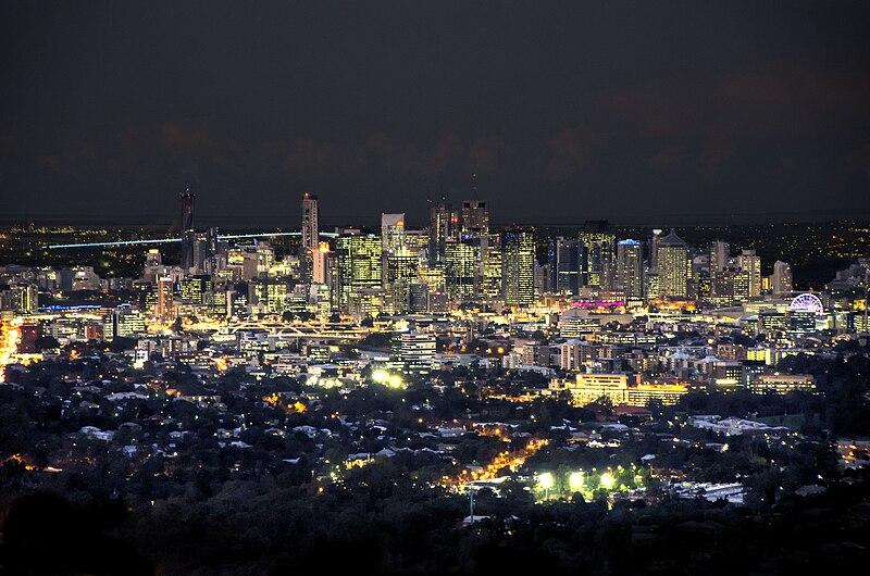 File:Brisbane CBD at Night.jpg