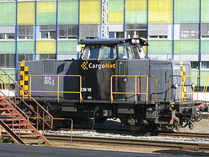 A diesel shunter type CargoNet Skd 226 10 at T...