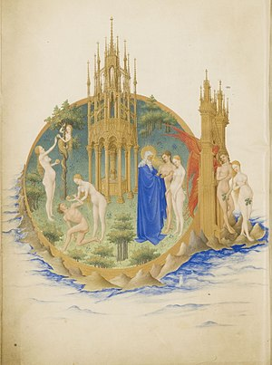 The Garden of Eden from the Très Riches Heures...