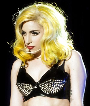 Gaga performing on The Monster Ball Tour in Bu...