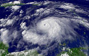 Imagen del huracán Emily.