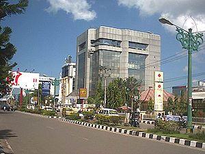 Beschrijving De Lambung Mangkurat-straat in Ba...