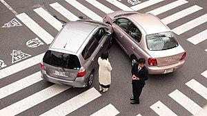 A car accident in Tokyo, Japan. Español: Un ac...