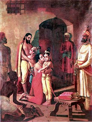 Krishna meets his parents after killing his un...