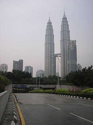 A view of the Kuala Lumpur City Centre (with t...