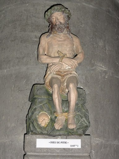 Liessies (Nord, Fr) église, statue Christ aux liens.jpg