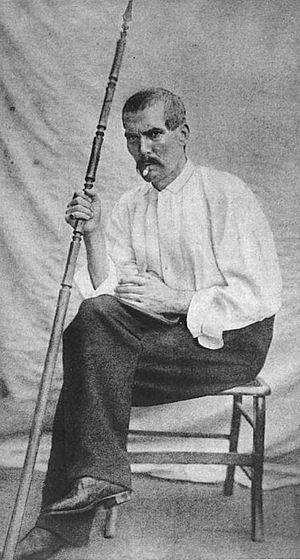 Photograph of Richard Francis Burton in Africa
