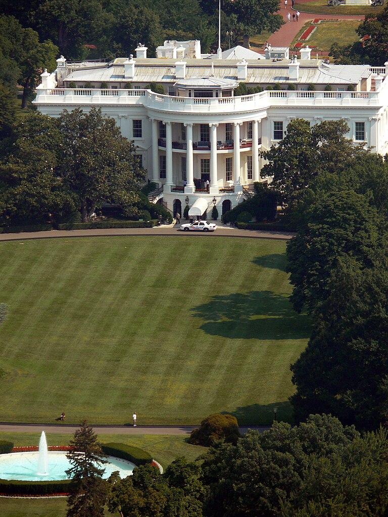 File South Facade Of The White House Washington Dc As