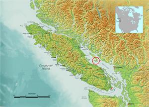 Vancouver Island, which Lasqueti Island circle...