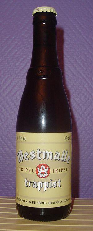 Westmalle trappist beer (Belgium). Nederlands:...