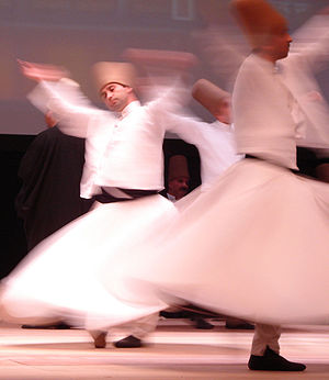 English: Whirling dervishes or Darveshes, Rumi...