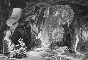 Bühnenbildentwurf Siegfried