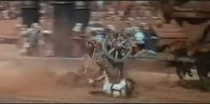 Wreckage during famous chariot race scene in B...