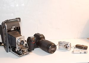 Cameras from Large to Small, Film to Digital.