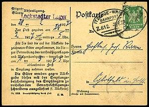 Deutsches Reich - Bahnpoststempel