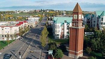 St Albert Clocktower Downtown. Originally post...