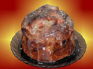 Kulich (a kind of Easter cake, traditional in ...