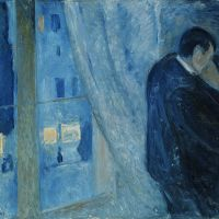 """Kiss by the Window"" by Edvard Munch"