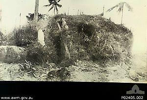 Exterior of a Japanese foxhole