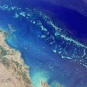 Satelite image of the Great Barrier Reef
