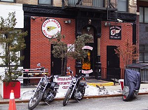 The Hells Angels clubhouse at 77 East 3rd Stre...