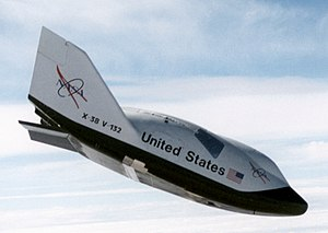 The prototype X-38 lifting body, the cancelled...