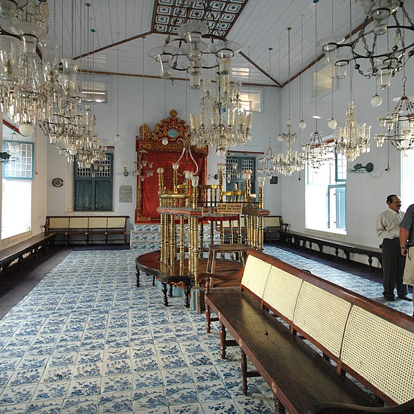 Paradesi Synagogue, from my POV sitting at the pew
