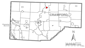 Map of Crawford County higlighting Cambridge S...
