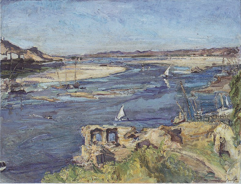 File:Max Slevogt - Der Nil bei Assuan - 1914.jpeg