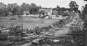 English: Gettysburg, Pa. Headquarters of Gen. ...