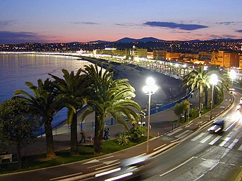 "A view along the ""Promenade des Anglais&q..."