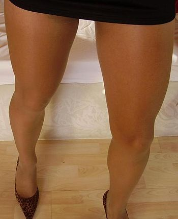 woman in pantyhose